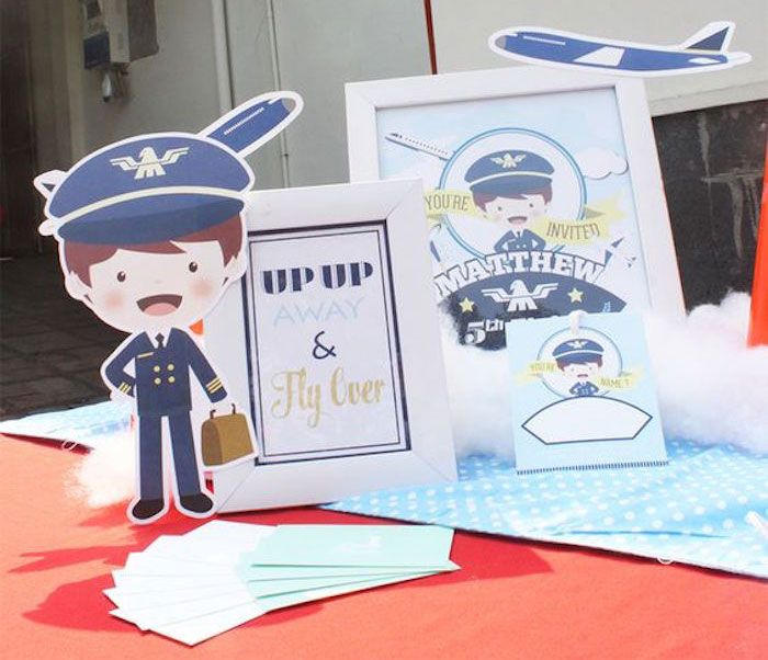 Table from an Airplane Birthday Party via Karas Party Ideas