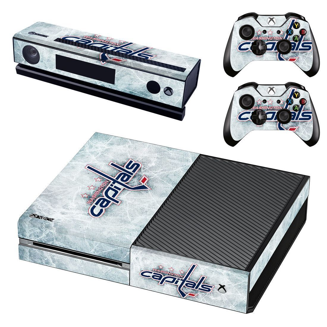 Washington Capitals Xbox One Skin Decal For Console And 2 Controllers Hockeynhlteamsdecals Xbox One Skin Xbox One Xbox One Console