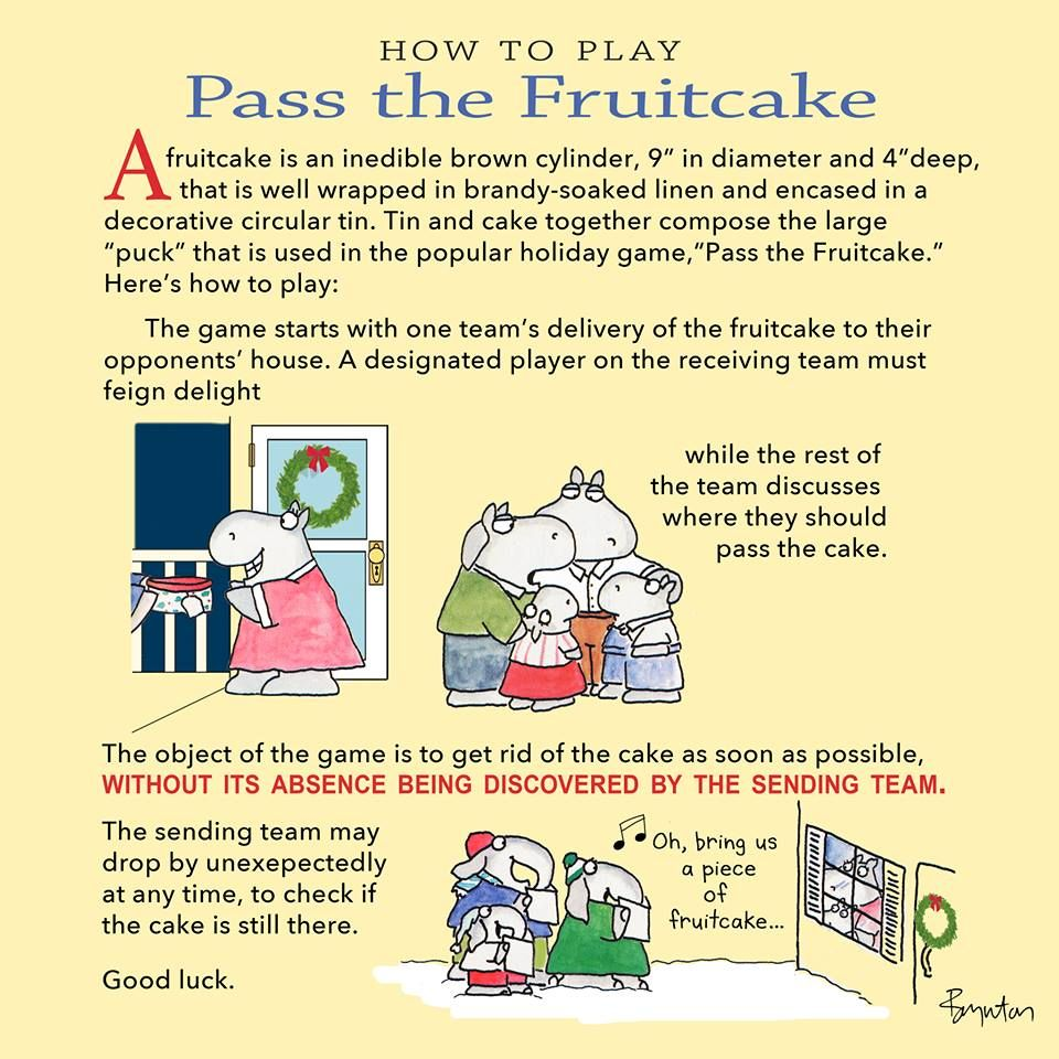 December 27 is, inexplicably, Fruitcake Day. Here are the Semi-Official Rules