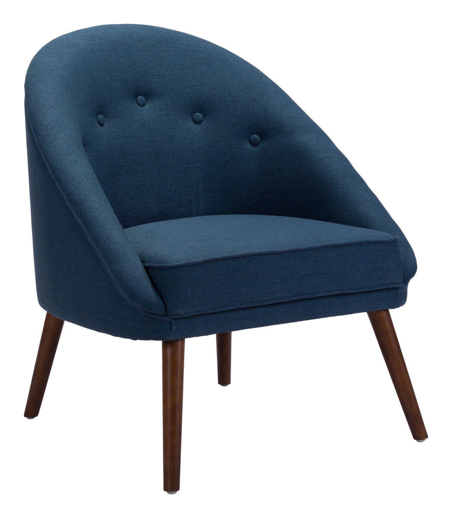 Best Carter Accent Chair In Cobalt Blue Linen Blend Fabric On 400 x 300