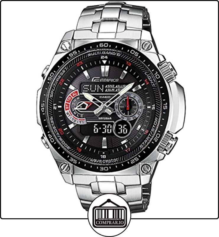 CASIO Edifice ECW-M300EDB-1AER - Reloj de caballero de cuarzo, correa de acero inoxidable color plata de  ✿ Relojes para hombre - (Gama media/alta) ✿