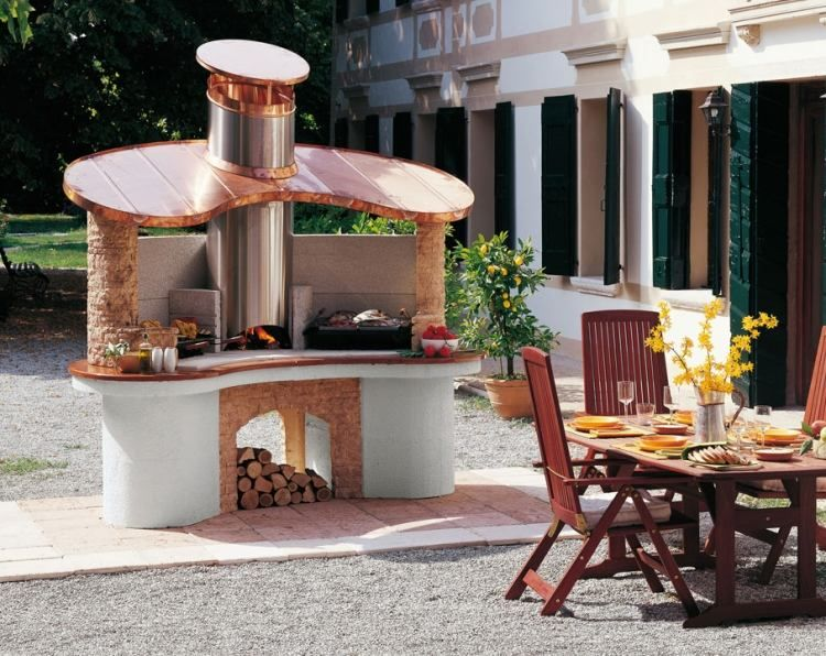 Barbecue ext rieur par palazzetti plaisir de griller en for Barbecue de jardin en pierre