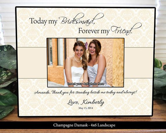 Bridesmaid Frame Maid Of Honor Personalized Gifts Custom Picture