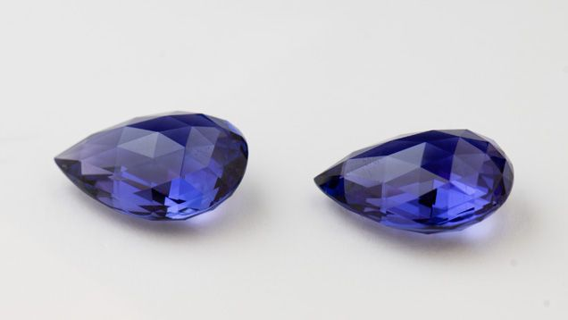 These #tanzanite briolettes total almost 50-cts.