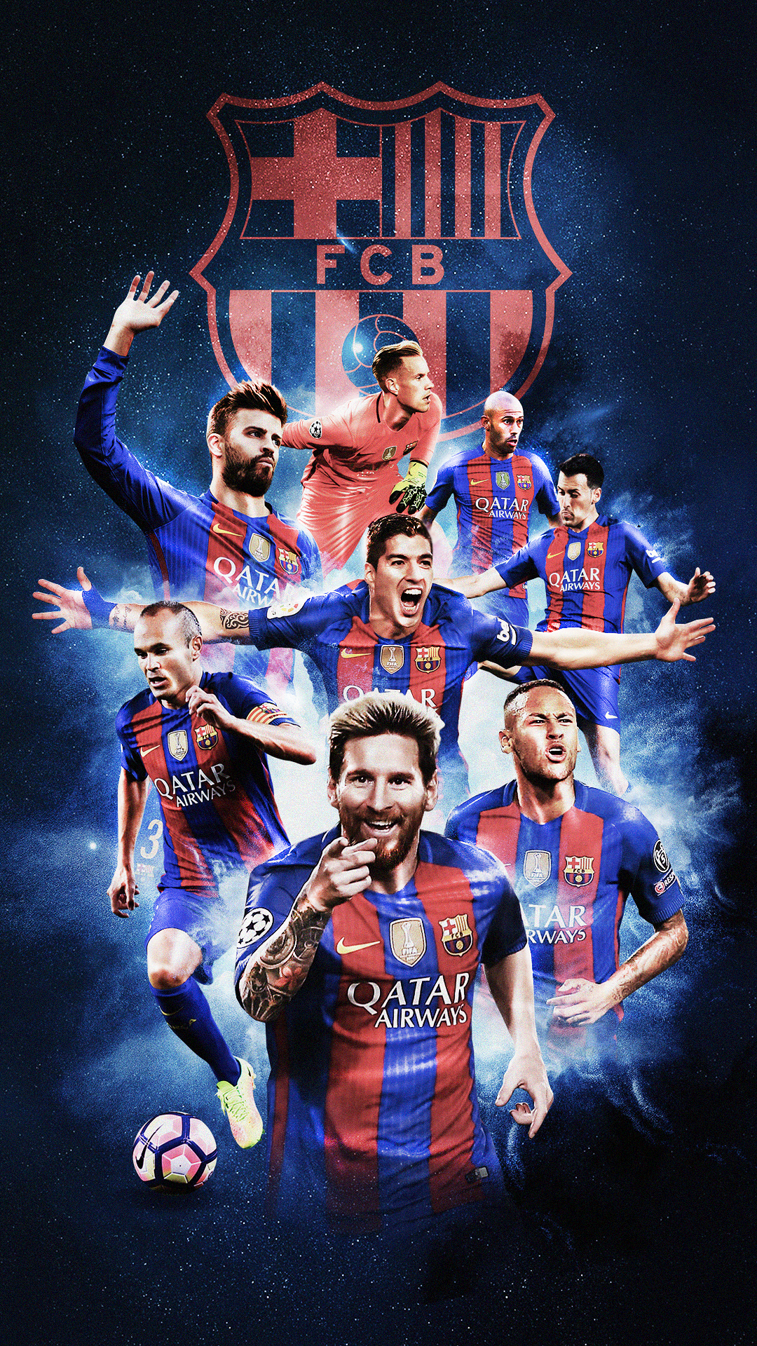 Football Mobile Wallpapers On Behance Barcelona Team Lionel Messi Wallpapers Barcelona Soccer