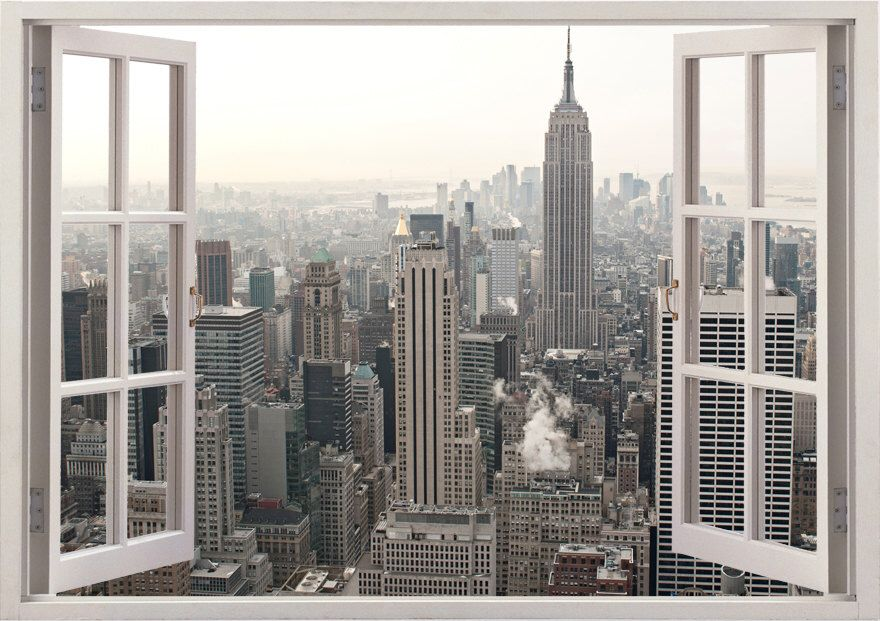 New York Wall Sticker 3d Window New York Wall Decal Ny For Home