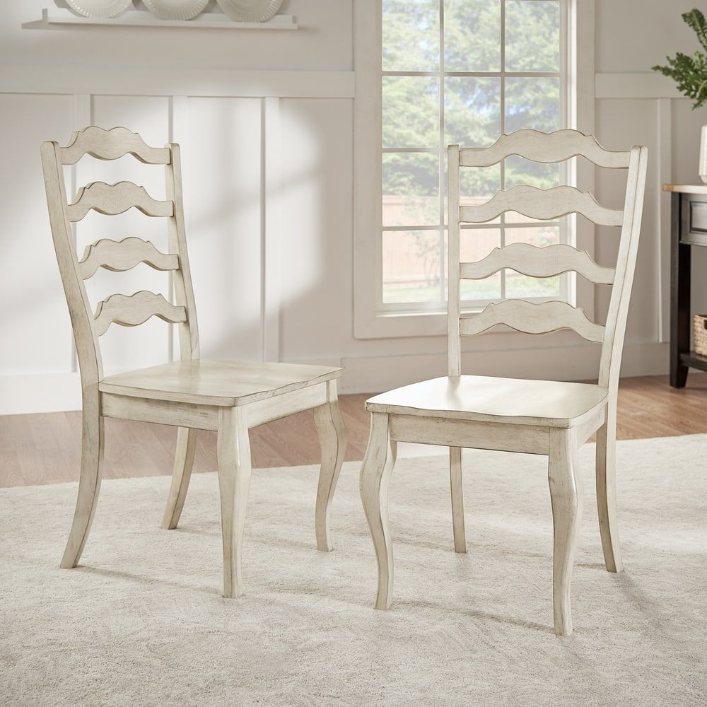 Eleanor French Ladder Back Wood Dining Chair (Set of 2) by iNSPIRE Q  Classic. Farmhouse ...