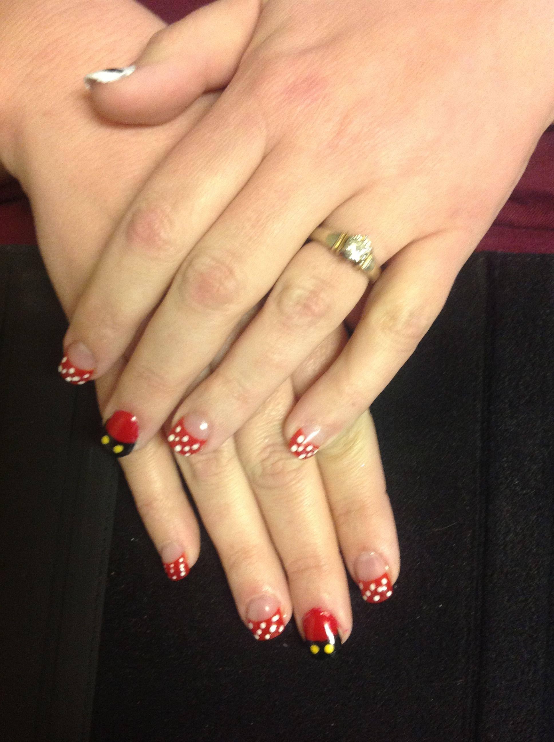Minnie/Mickey Mouse nails   Nails   Pinterest   Fingernägel