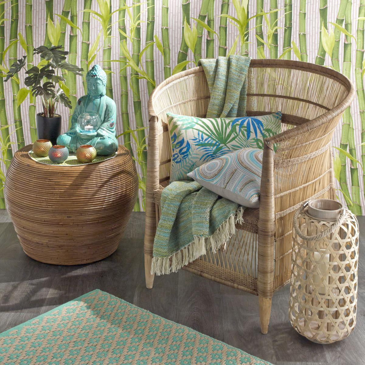 fauteuil tiss en bambou et rotin malawi maisons du. Black Bedroom Furniture Sets. Home Design Ideas