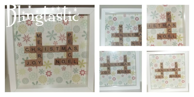 These personalised Scrabble frames from http://facebook.com/BlingtasticAyrshire make great gifts. Frames are 23cm, available in black or white and prices start from £20.