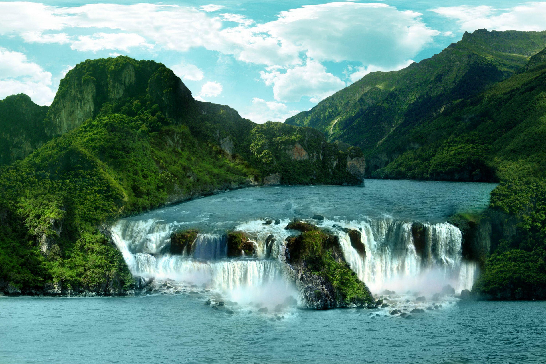 Tropical Waterfall Waterfall Scenery Waterfall Pictures Waterfall Wallpaper