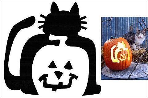 Cat Pumpkin Stencils Cat O Lantern Cat Pumpkin Stencil Pumpkin Stencil Halloween Pumpkin Stencils