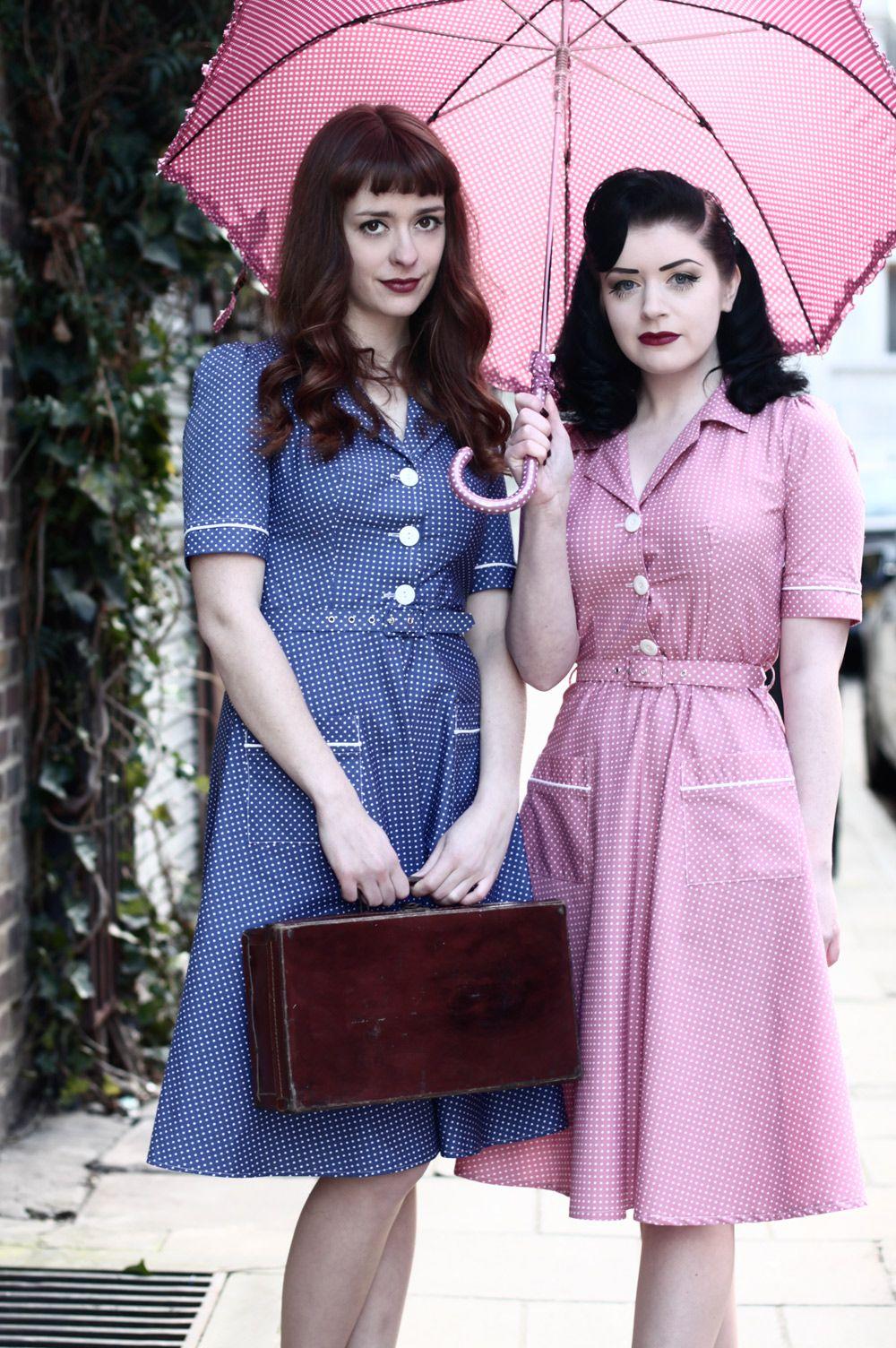 Tara Starlet 1940s 40s Style: Friday Frock Love: Spring Spots