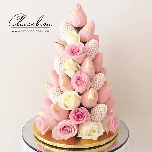 Pin by A C on 40th birthday Pinterest Strawberry tower Dipped