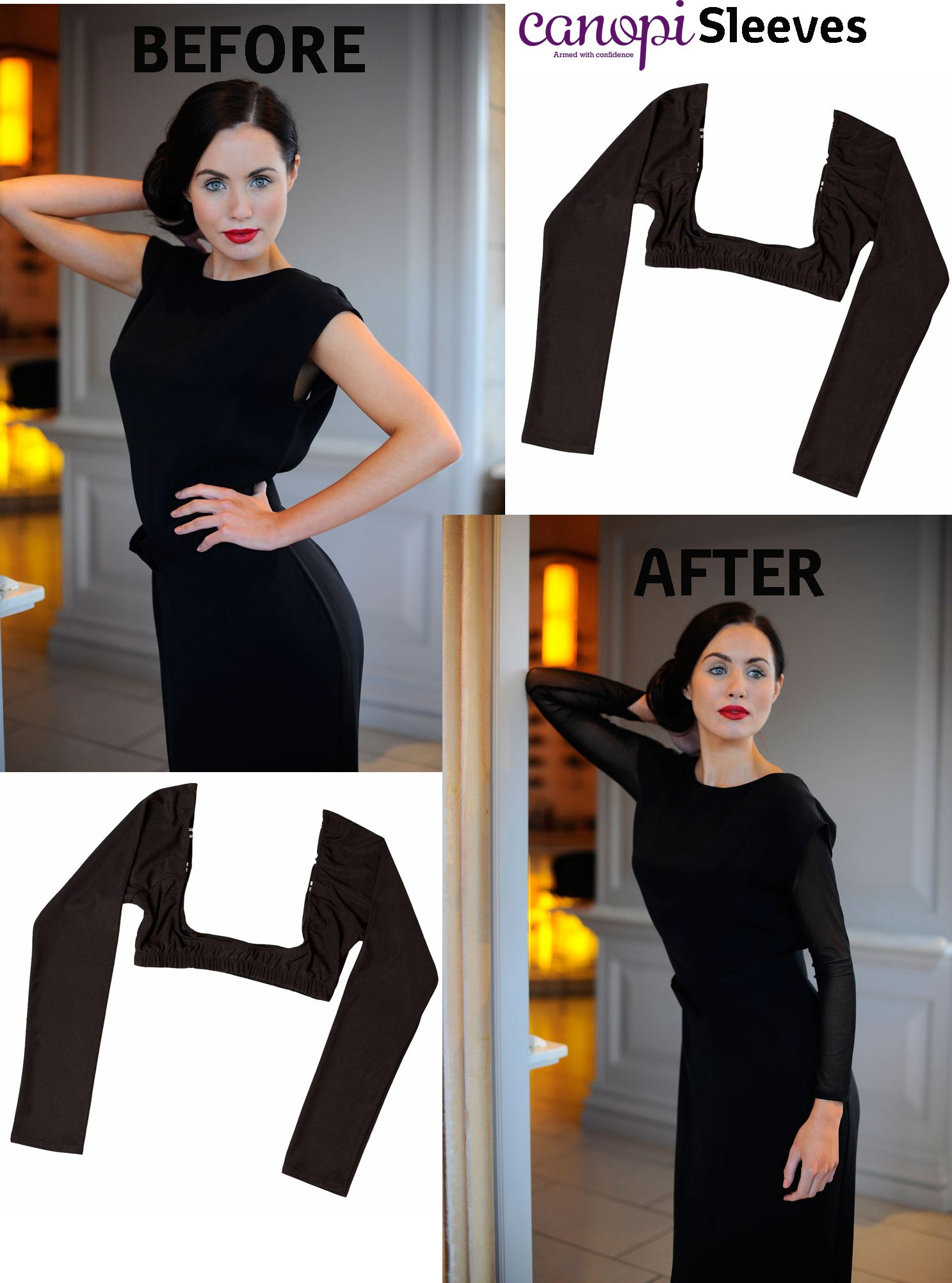 Canopi Sleeves A Simple Seamless Elegant Solution To Enable You To Wear That Sleeveless Dress