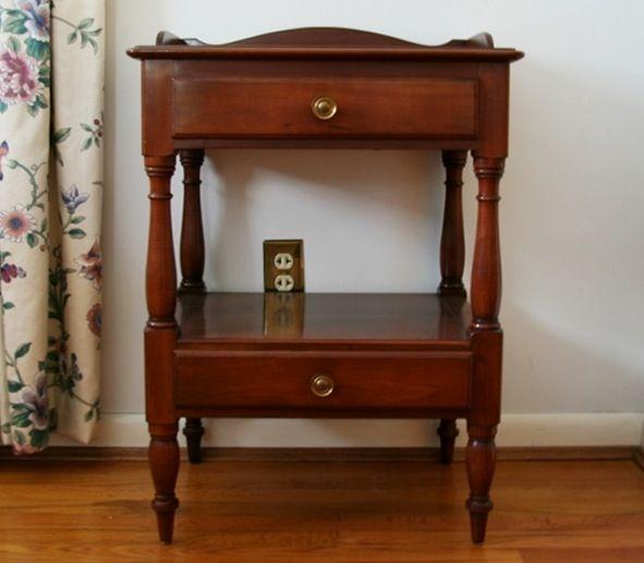 vintage willett bedside table maple