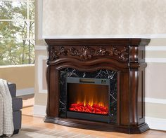 62 Grand Cherry Electric Fireplace At Big Lots 600 Big Lots