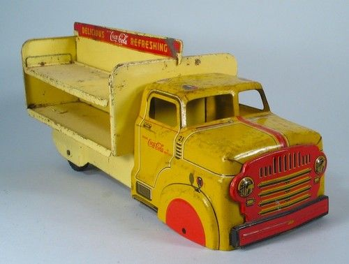 1950s Louis Marx Tin Toy Coca Cola  Delivery Truck
