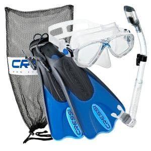 6 Cressi Palau Mask Fin Snorkeling Set With Bag Fins Snorkeling Gear Snorkel Set Snorkeling