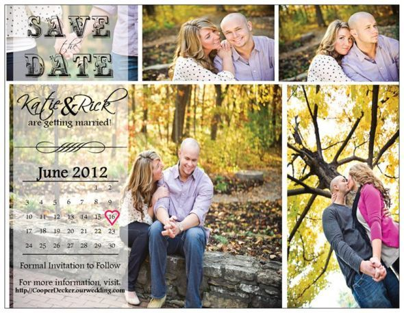 My Vistaprint Postcard Save The Dates Wedding Diy