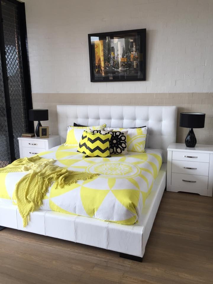 White Alexa bedroom suite in Genuine Leather.