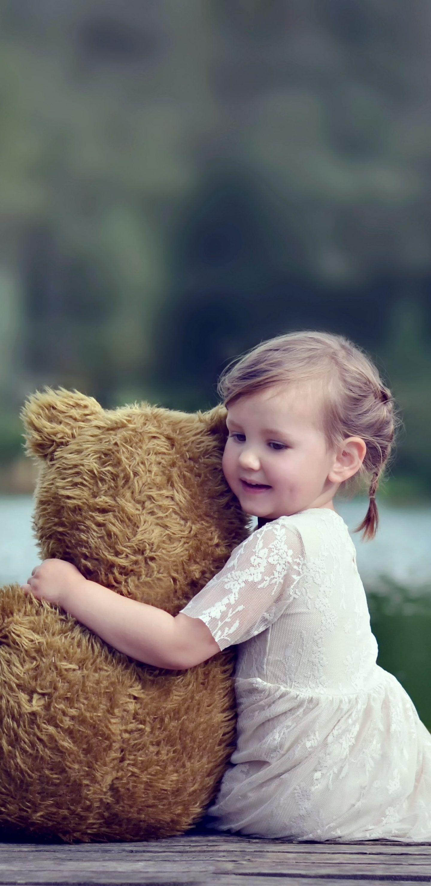 خلفيات ايفون بنات Hd Tecnologis Teddy Bear Girl Child Life Mom Life Hacks