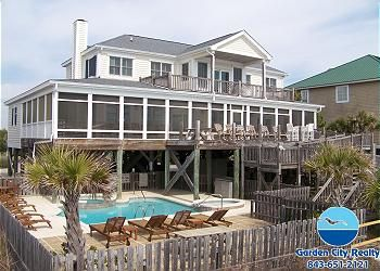 Flying Geese In Garden City Sc Is A Divine Oceanfront Home With A