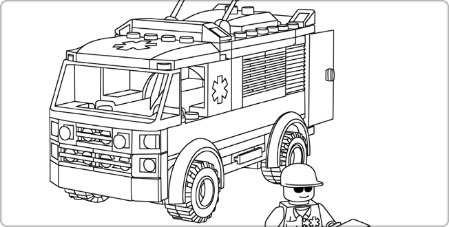 legocom city downloads coloring pages coloring page ambulance - Ambulance Coloring Pages Print