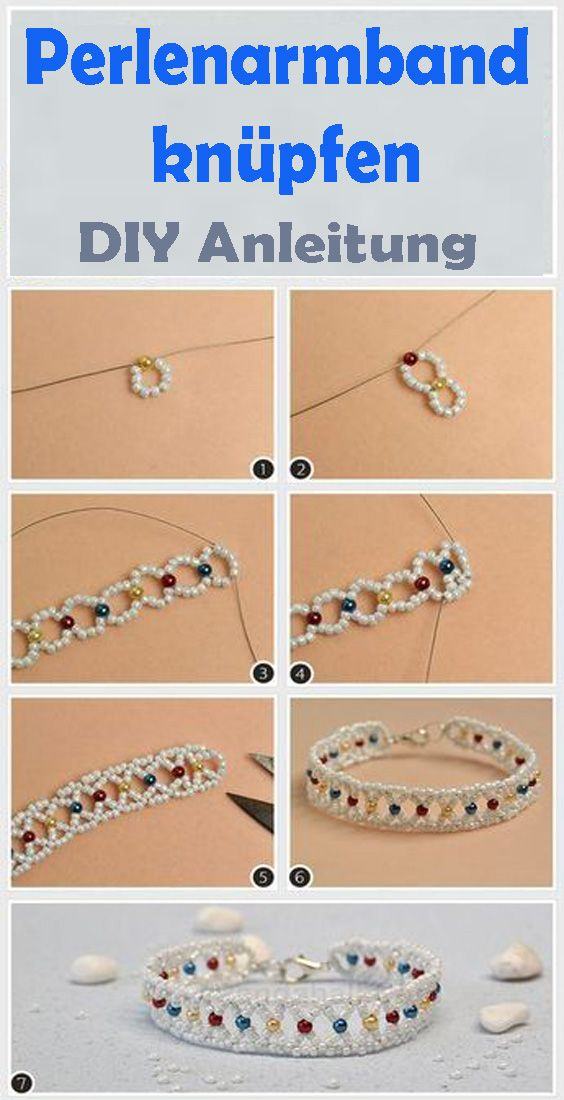 Perlen Armband Basteln Kostenlose Diy Anleitung Diy Armband Perlen Armbander Basteln Perlenarmband