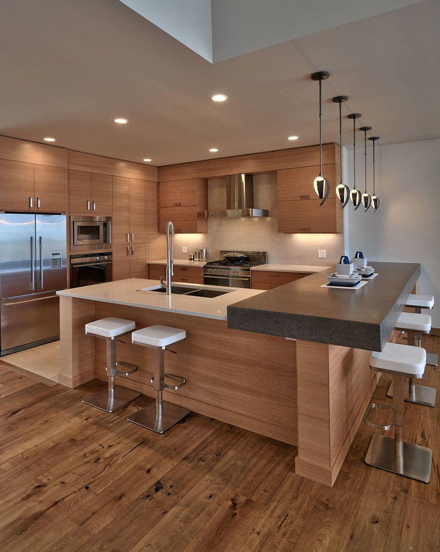 Illuminazione Piano Lavoro Cucina 100 idee cucine con isola moderne e funzionali | design