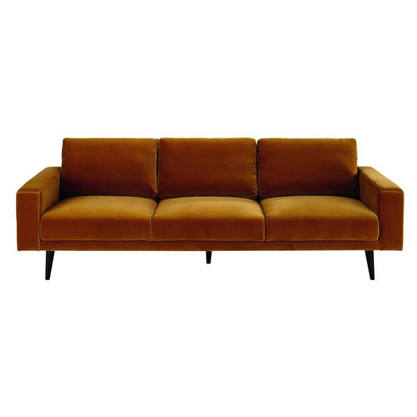 Dreipunkt Designer Leather Sofa Mustard Yellow Two Seat: Canapé 4 Places, Canapé Velours