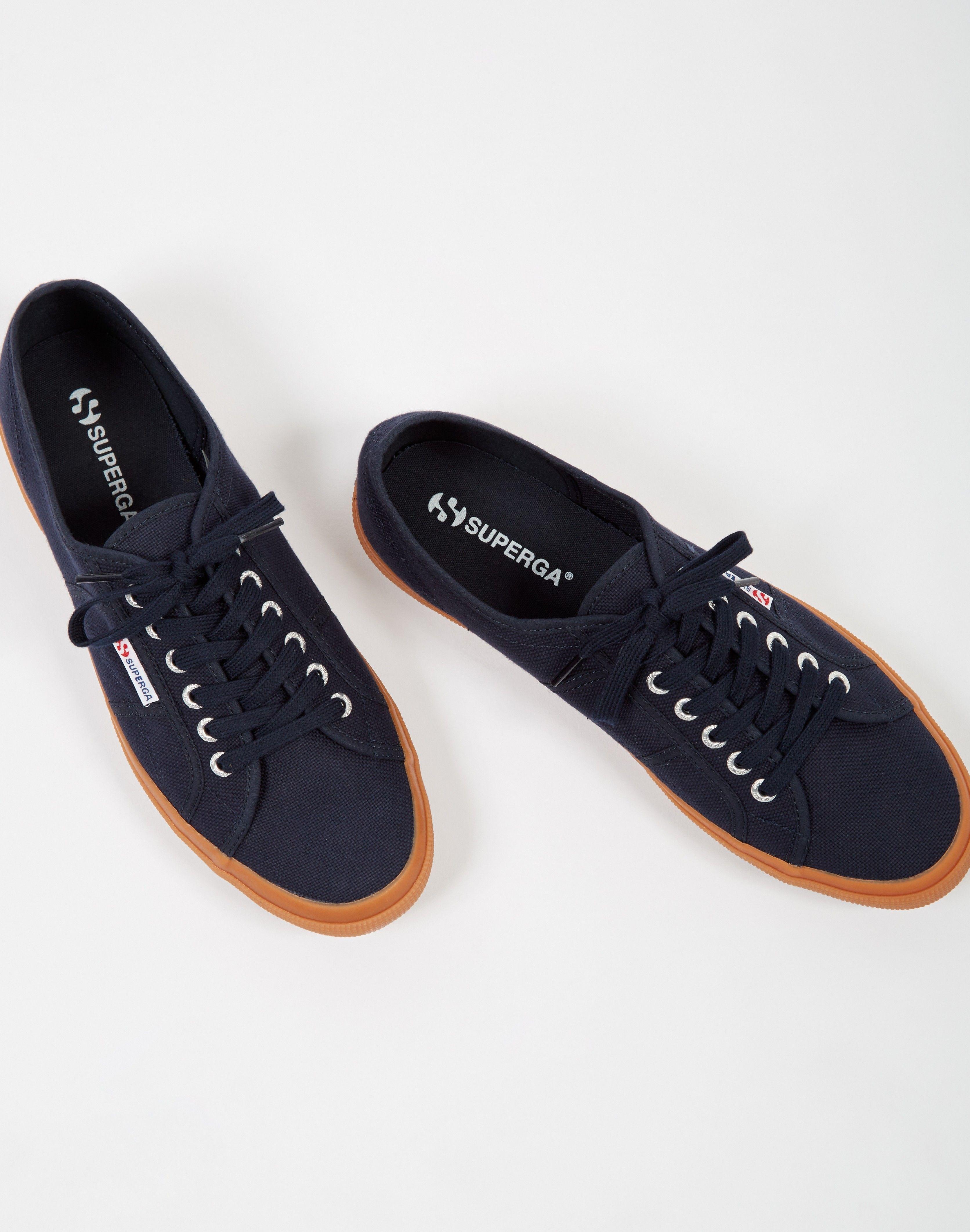 c0ff47e1989fa7 Superga 2750 COTU Classic Navy Gum Sole - Trainers   Plimsolls - Shoes -  Shop at The Idle Man
