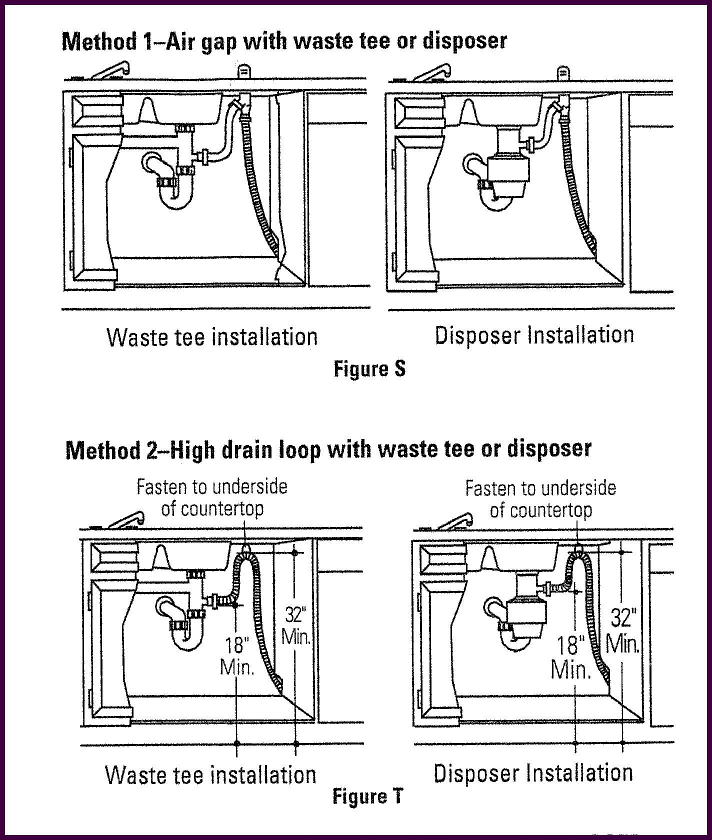 small resolution of if your dishwasher drain is improperly installed you could be in danger