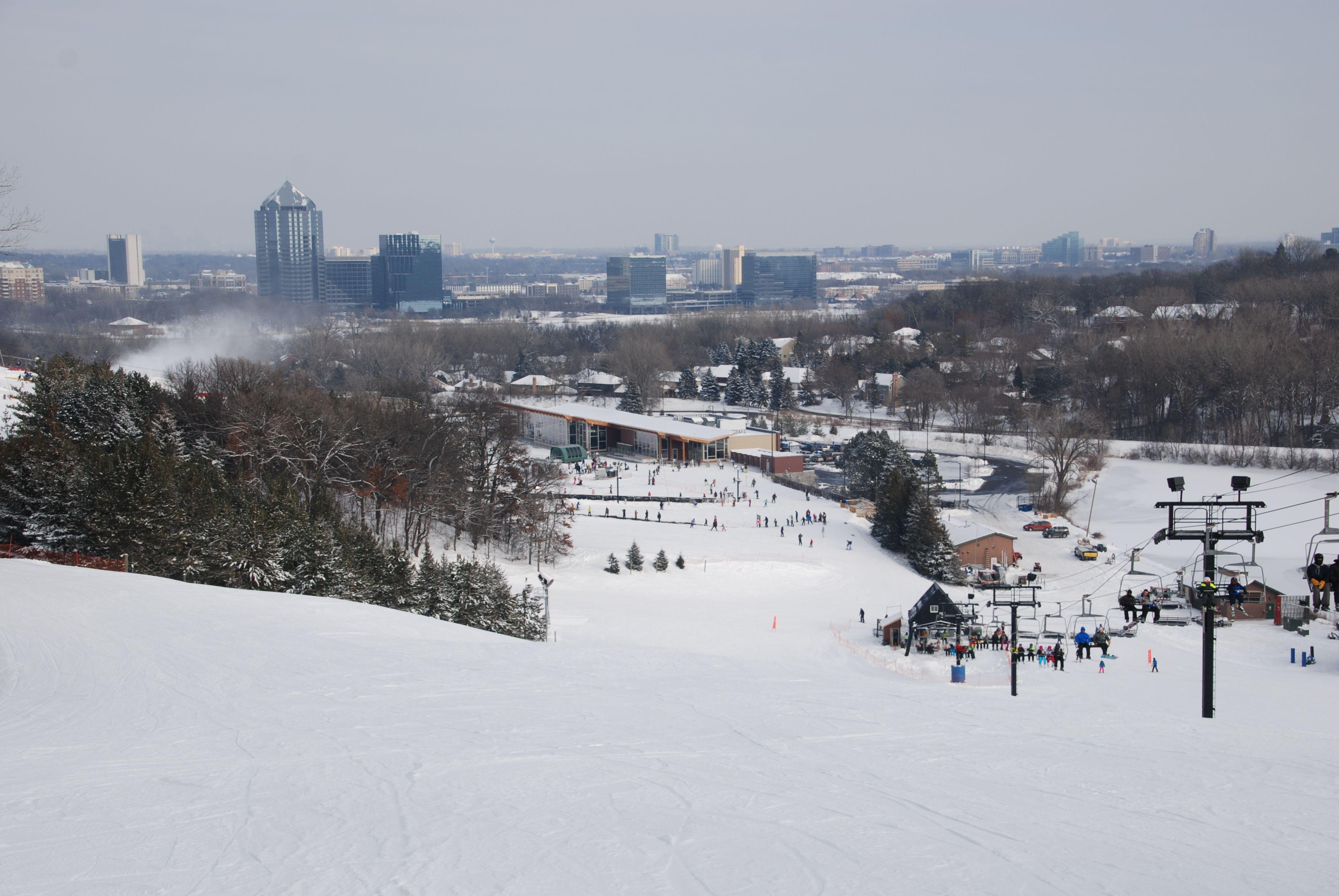 Perfect time of the year to visit Hyland Hills Ski Area!  #BloomingtonMN #skiing #familyfun