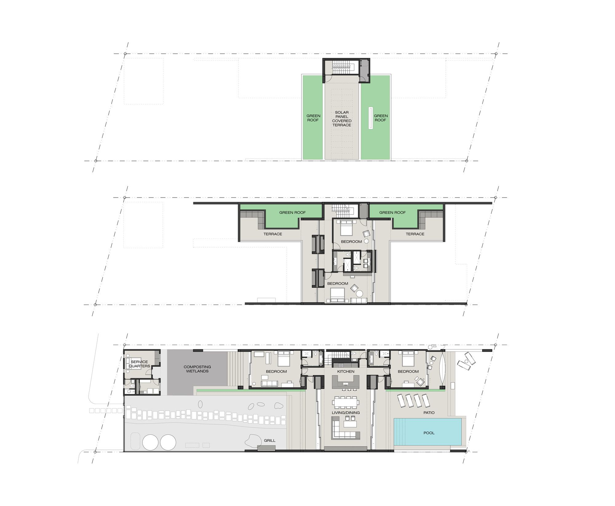 Gallery of Casa Xixim / Specht Harpman - 19 | layout | Pool ... on mexican beach home, mexican beach house design, mexican beach interior design, hacienda homes with floor plans, mexican small house floor plans, mexican beach architecture,