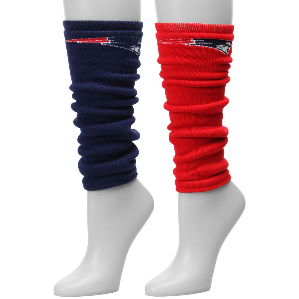 Women's New England Patriots For Bare Feet Highwire Mismatch Leg Warmers