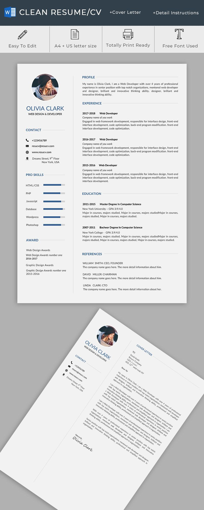 a clean resume cv templates for you resumes templates doctor resume