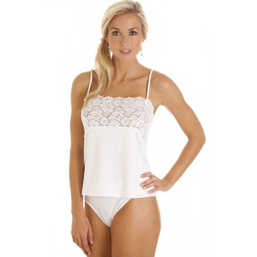 f52539807a5cca Camille Womens Ladies Luxury White Camisole Lace Trim Top 6-18 6 Sizes  Shown are US. The equivalent UK size will be sent.. Available in White