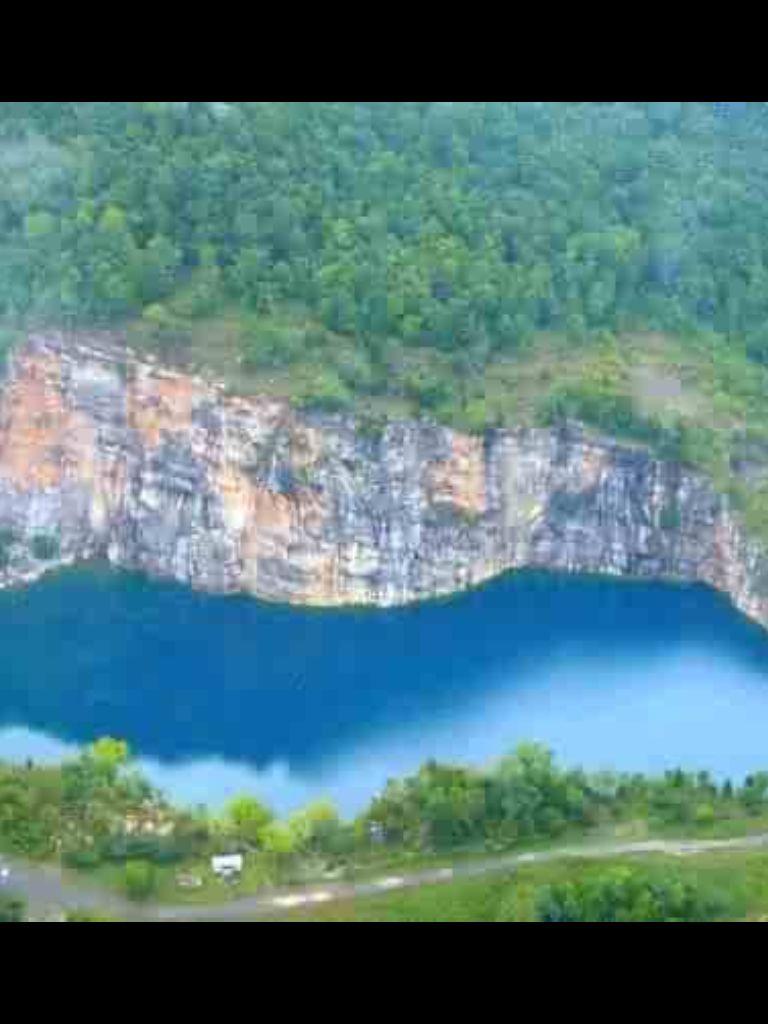 Rock quarry Blue Hole Glencoe ALthis place is