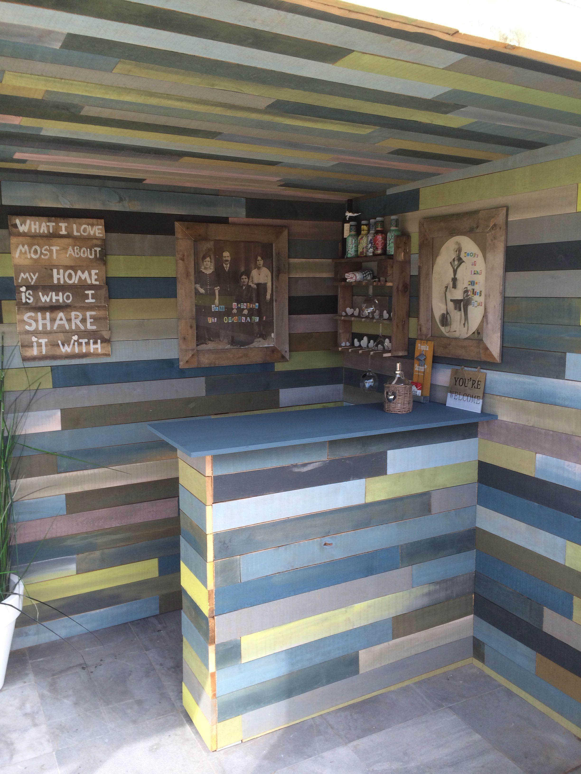 DIY Pallet Bar Garden My Great Pallet Garden House Bar