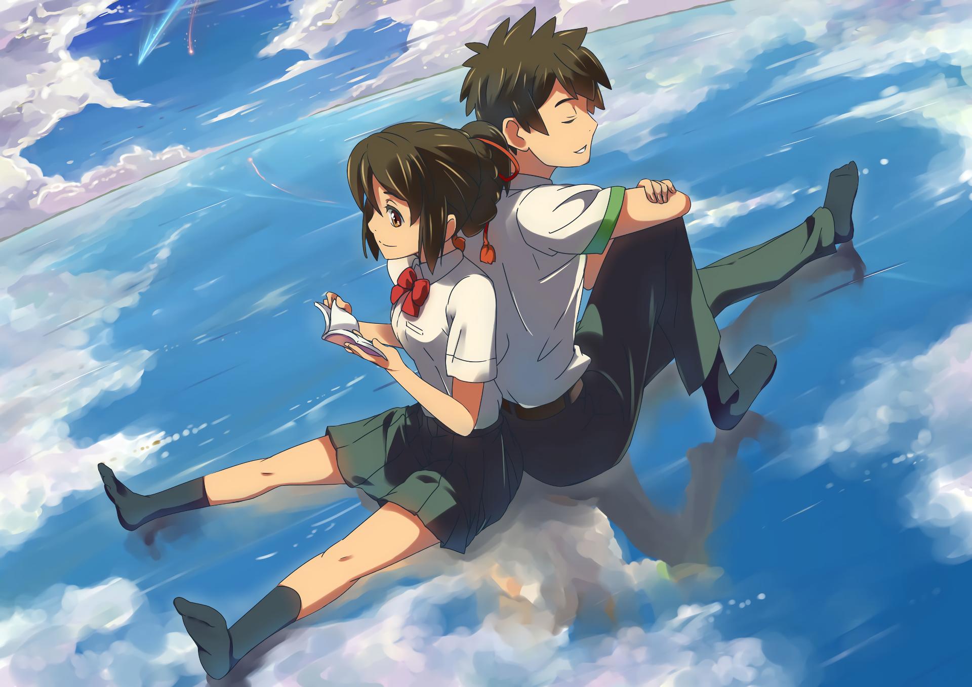 Taki and Mitsuha Kimi no Na wa Pinterest Anime