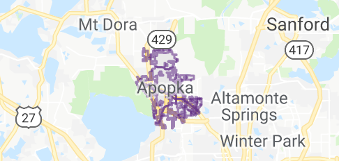 Apopka Florida Map.Map Of Apopka Florida Traveling Like A Wave In The River