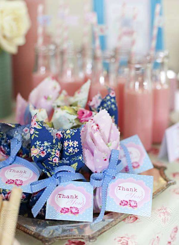 Karas Party Ideas Shabby Chic Princess Girl Pink Vintage Planning