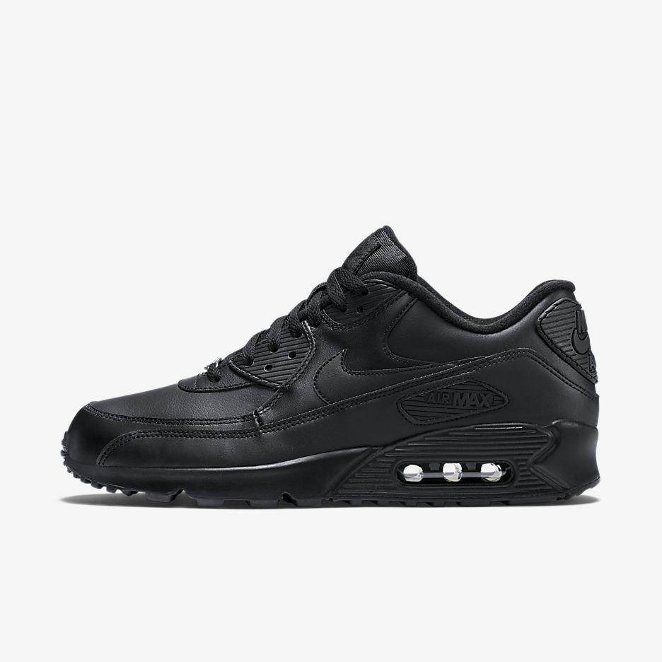 official photos 5ad43 be7a1 Nike Air Max 90 Leather Heren Zwart Schoenen
