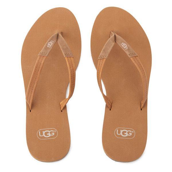 4e178e9b985ef2 UGG Women s Magnolia Flip Flops - Chestnut (42 CAD) ❤ liked on Polyvore  featuring