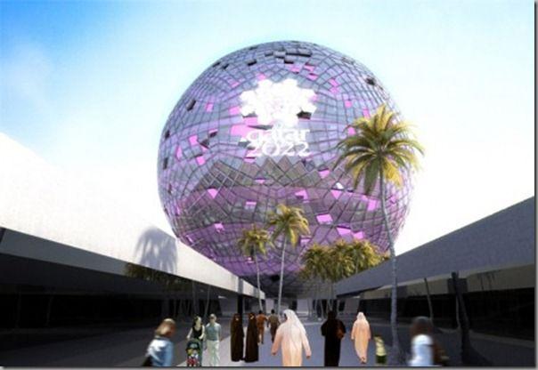Qatar Construct A Gigantic Rotating Crystal Ball For The 2022 Fifa World Cup World Football Crystal Ball 2022 Fifa World Cup