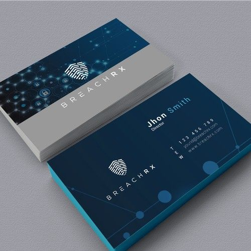 Professional B2b Card For Cyber Security Software Company Design By Qurratul Cyber Security Software Cyber Security Business Cards