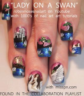 Lady On A Swan Miss Professional Nail Art Design Httpyoutube