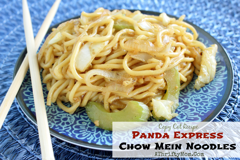 panda express chow mein noodles ~ copy cat recipe #