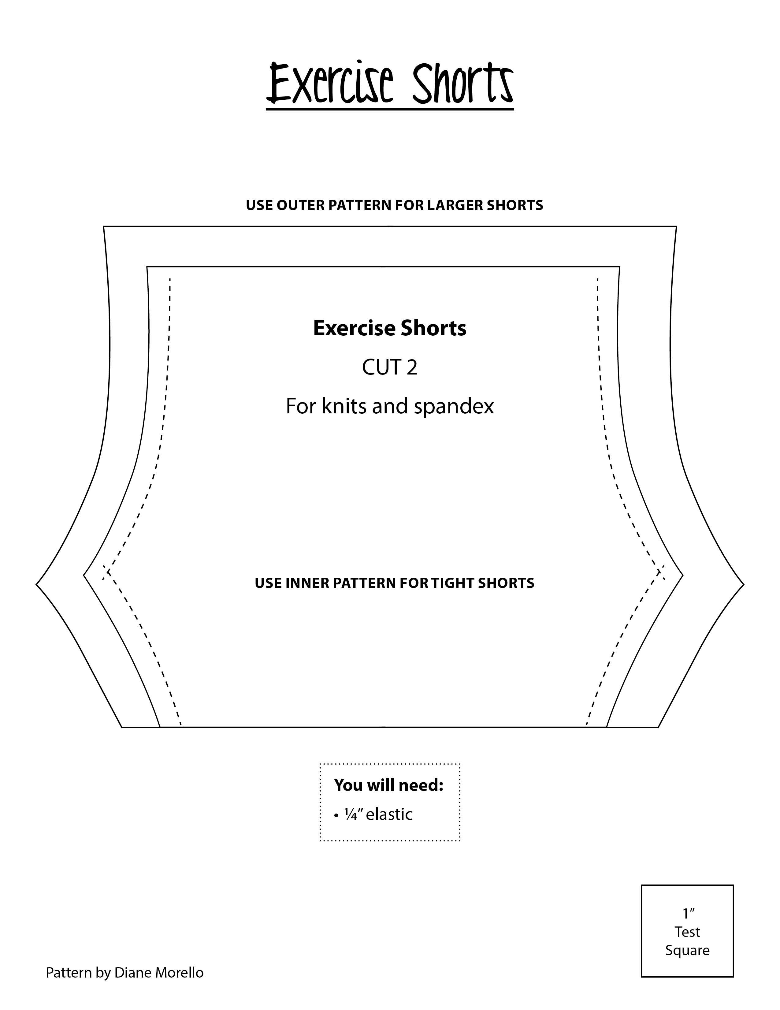 Exercise Shorts. Best if made with stretchy fabric.   Doll Patterns ...